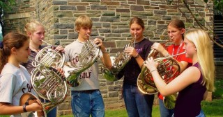 French Horn Practice at Eastern U.S. Music Camp