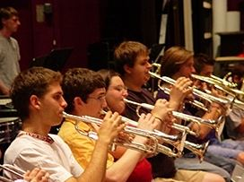 Trumpet Practice at Eastern U.S. Music Camp